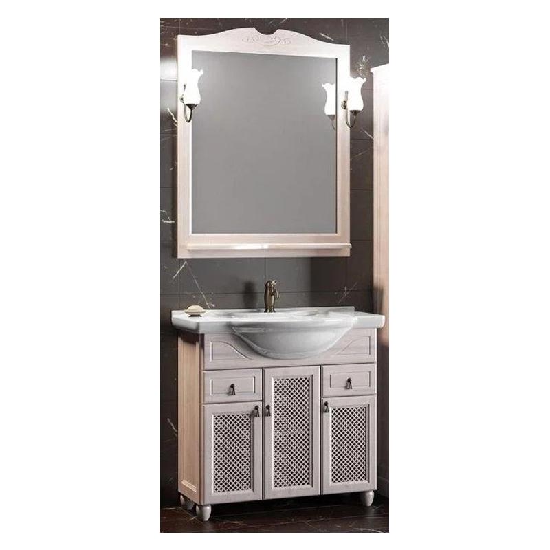 Комплект мебели Тибет 80 бел (тумб-умыв+раковина,зеркало,светильник).