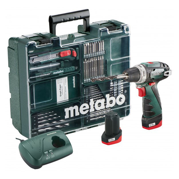 METABO Power Max BS 10,8 Li 2,0Ач (набор)