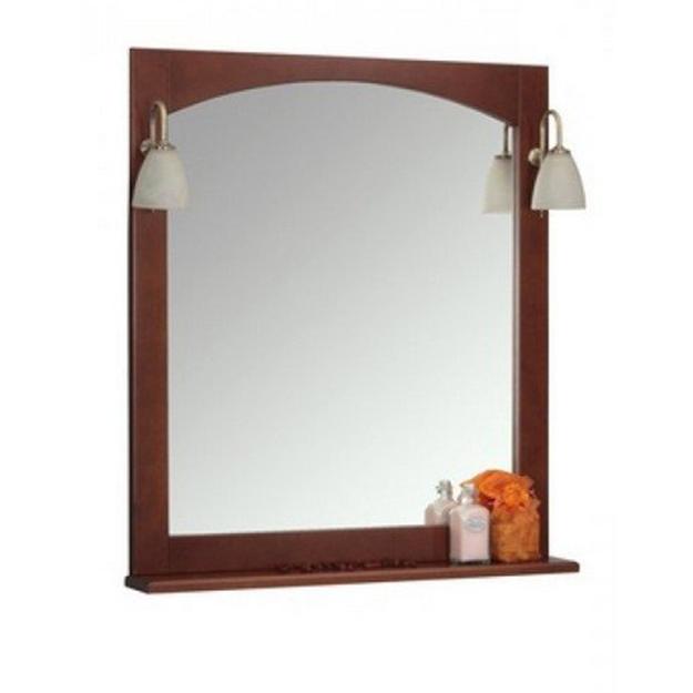 Зеркало Наварра 85 орех+светильник ISABEL(2шт)