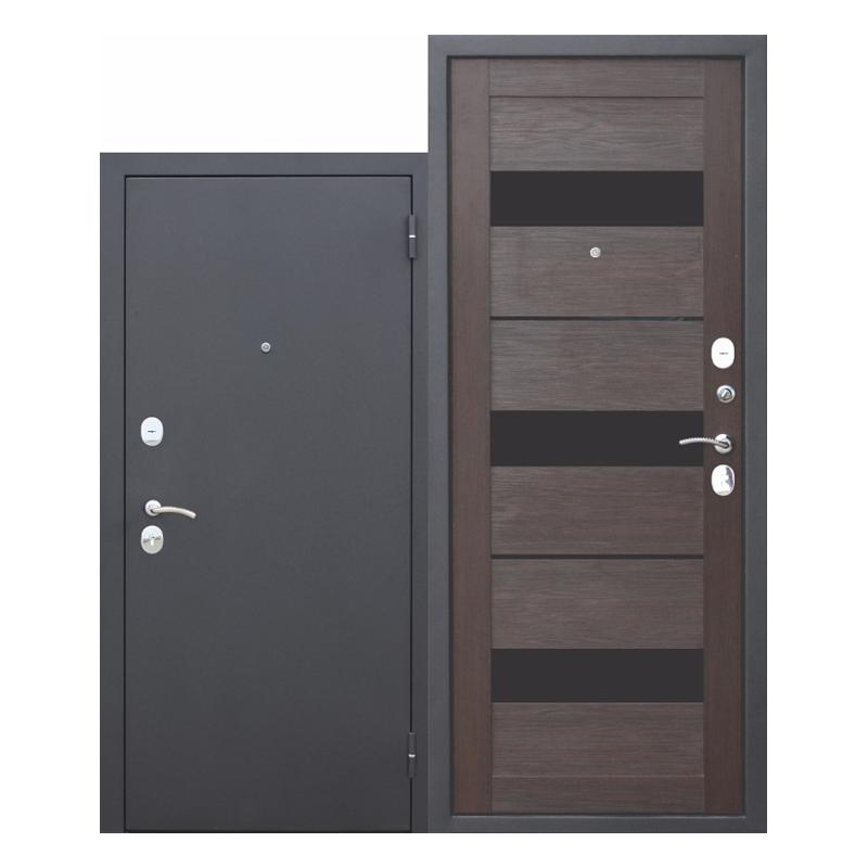 Металлическая дверь Ferroni Гарда 6см муар, внутр.-царга темный кипарис