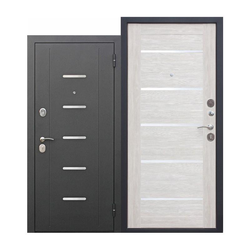 Металлическая дверь Ferroni Гарда 7,5 муар,внутр-МДФ 22мм листв.беж
